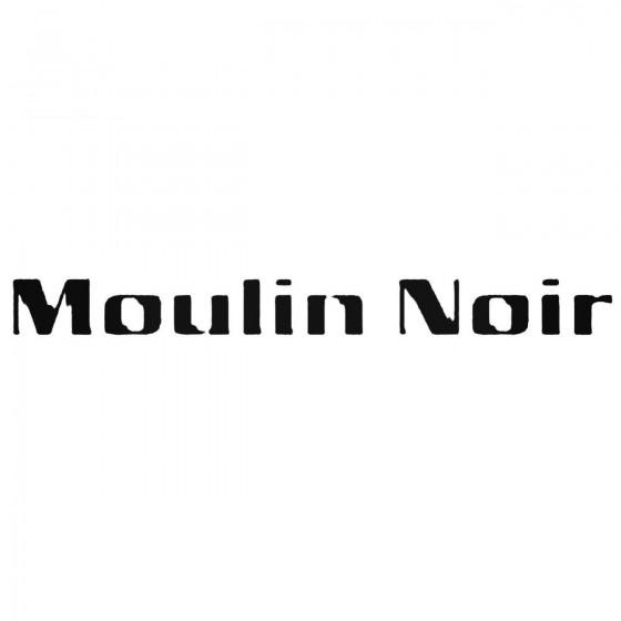 Moulin Noir Band Decal Sticker
