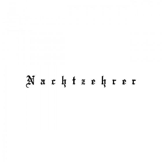 Nachtzehrerband Logo Vinyl...