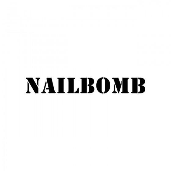 Nailbombband Logo Vinyl Decal