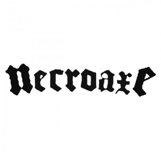 Necroaxe Band Decal Sticker