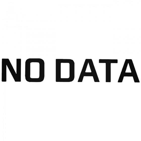 No Data Band Decal Sticker