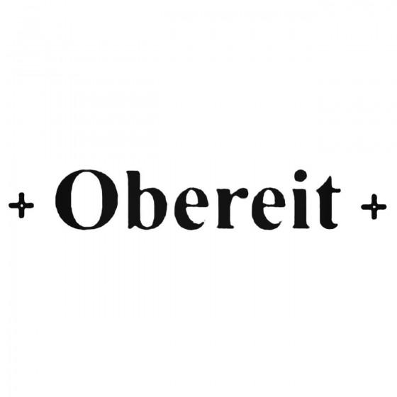 Obereit Band Decal Sticker