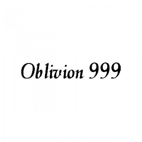 Oblivion 999band Logo Vinyl...