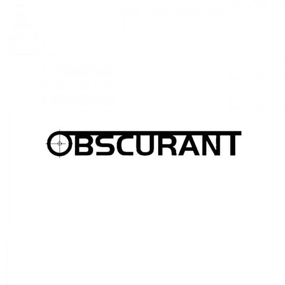 Obscurantband Logo Vinyl Decal