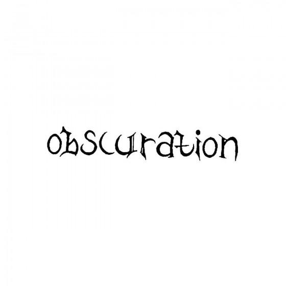 Obscurationband Logo Vinyl...