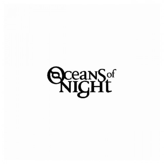 Oceans Of Night Band Decal...