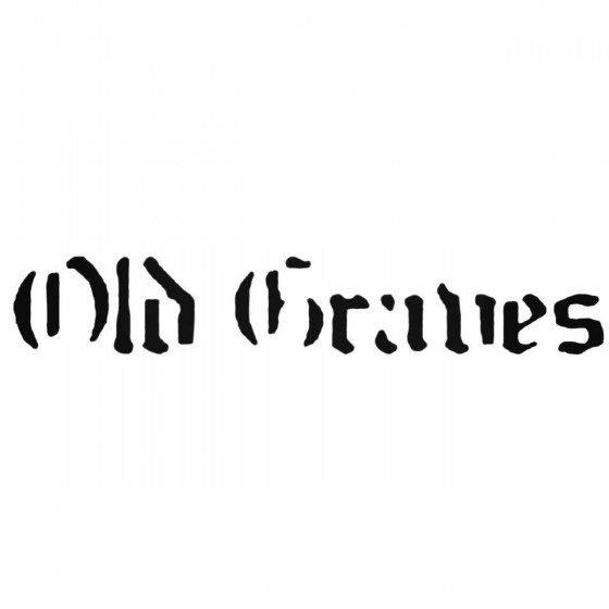 Old Graves Band Decal Sticker