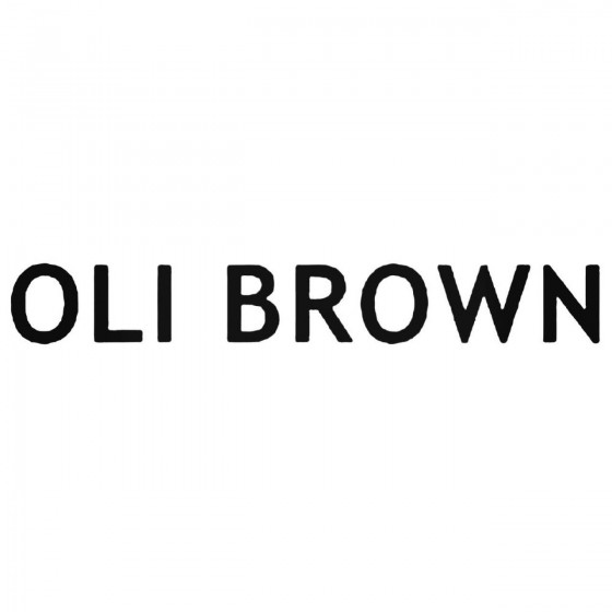 Oli Brown Band Decal Sticker