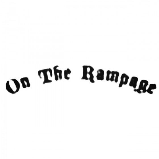 On The Rampage Band Decal...