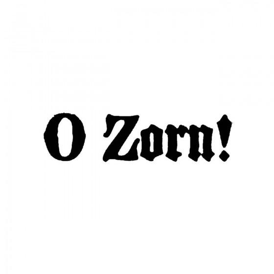 O ZornBand Logo Vinyl Decal
