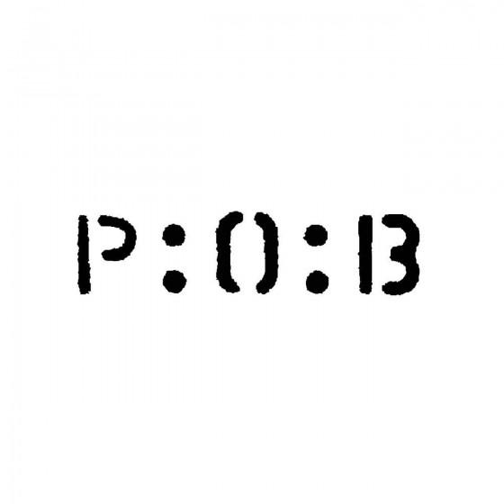 P O Bband Logo Vinyl Decal