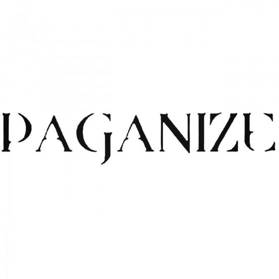 Paganize Band Decal Sticker
