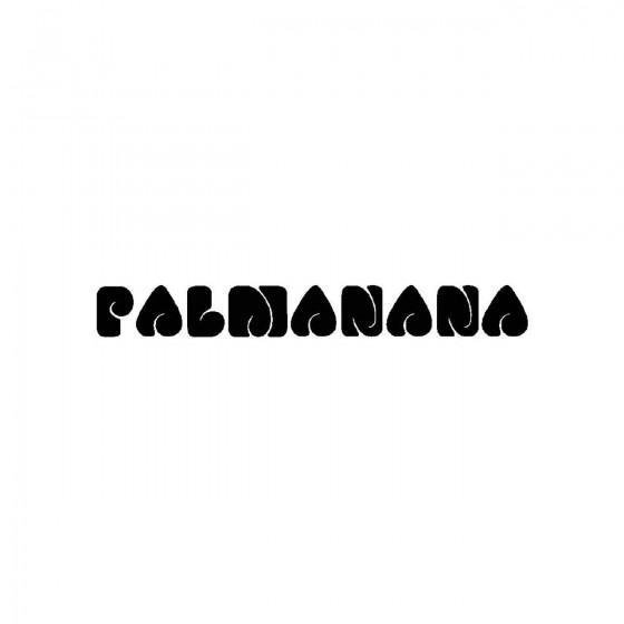 Palmananaband Logo Vinyl Decal