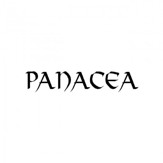 Panacea 2band Logo Vinyl Decal
