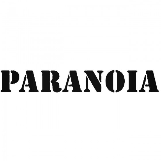 Paranoia Per Band Decal...