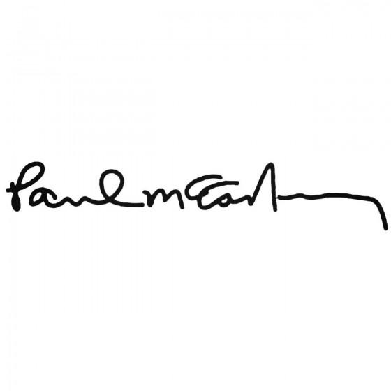 Paul Mc Cartney Signature...