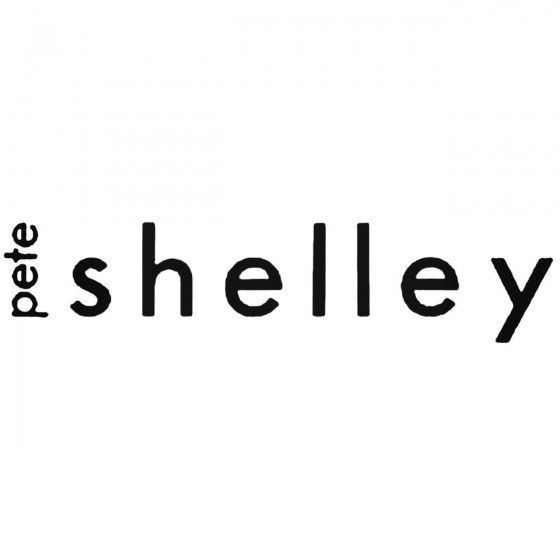 Pete Shelley Band Decal...