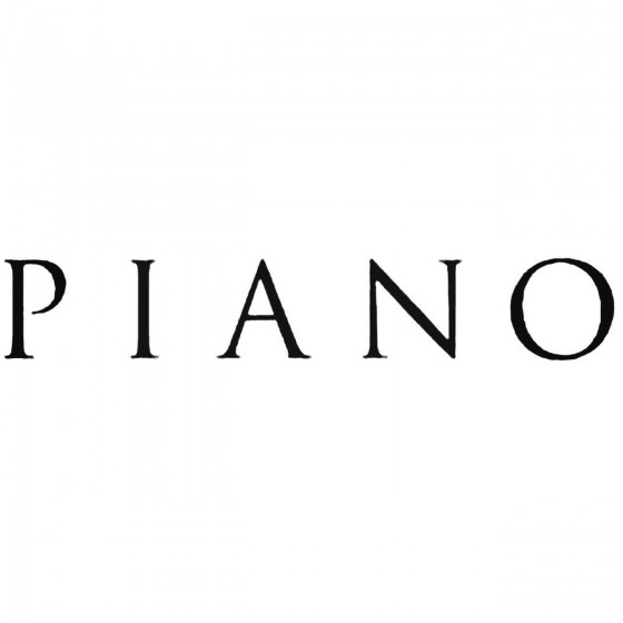 Piano Band Decal Sticker
