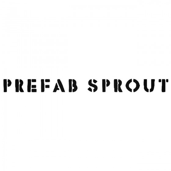 Prefab Sprout Band Decal...
