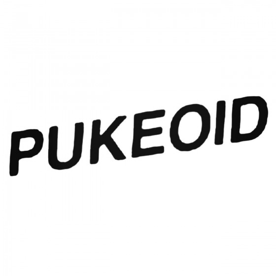 Pukeoid Band Decal Sticker