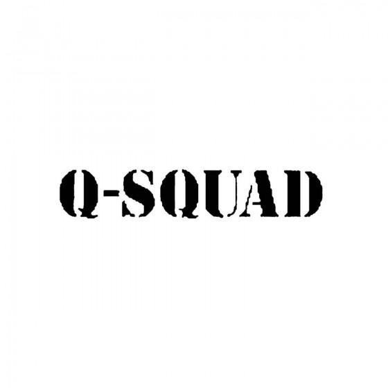 Q Squadband Logo Vinyl Decal