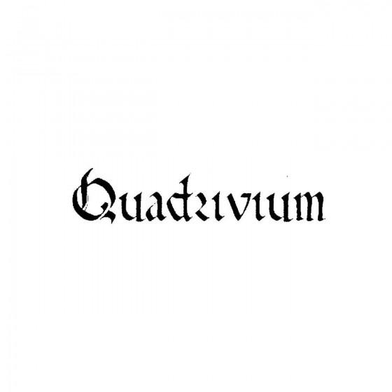 Quadriviumband Logo Vinyl...