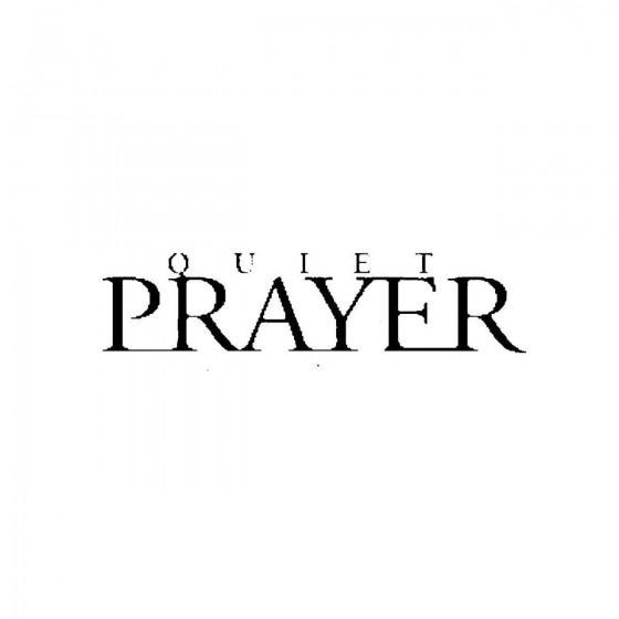 Quiet Prayerband Logo Vinyl...