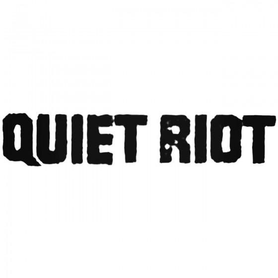 Quiet Riot Band Decal Sticker