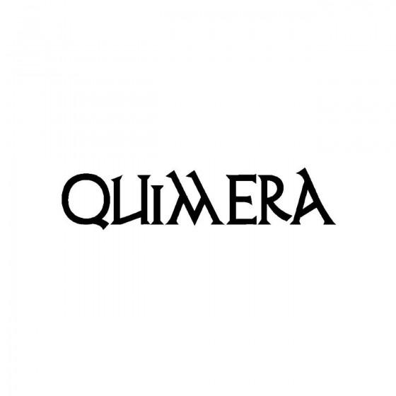 Quimera 2band Logo Vinyl Decal