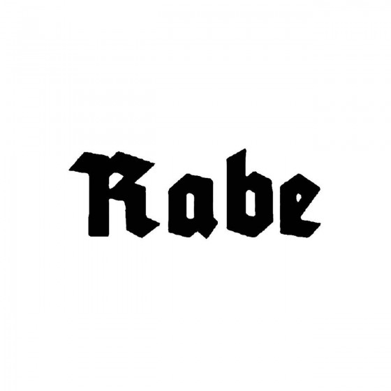 Rabeband Logo Vinyl Decal