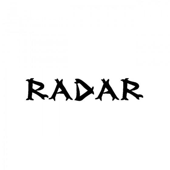 Radarband Logo Vinyl Decal
