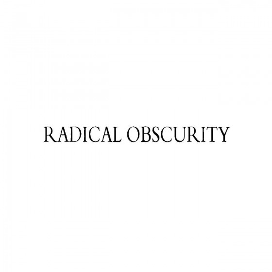 Radical Obscurityband Logo...