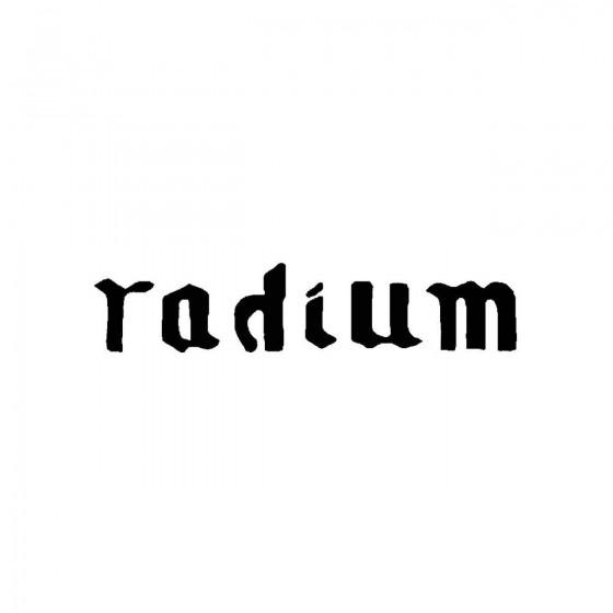 Radiumband Logo Vinyl Decal