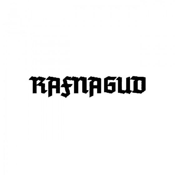 Rafnagudband Logo Vinyl Decal