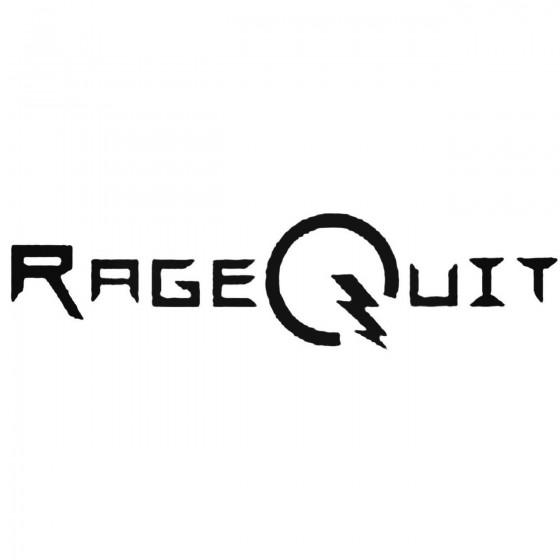 Ragequit Band Decal Sticker