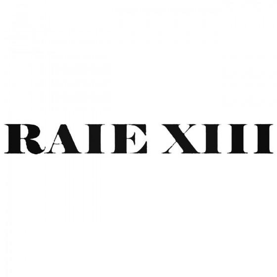 Raie Xiii Band Decal Sticker