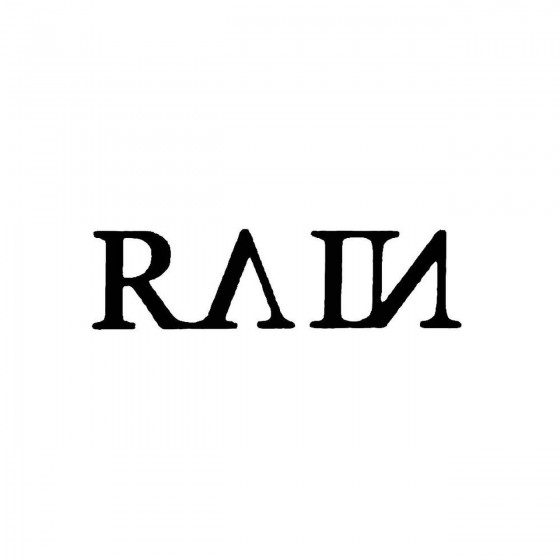 Rain 5band Logo Vinyl Decal