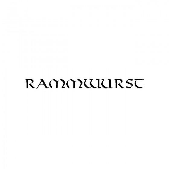 Rammwurstband Logo Vinyl Decal
