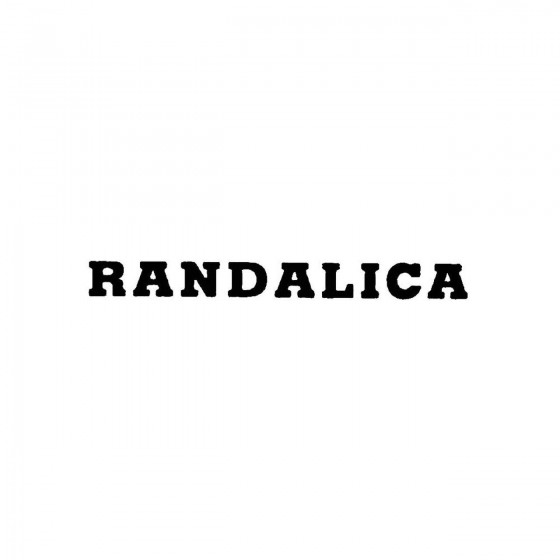 Randalicaband Logo Vinyl Decal