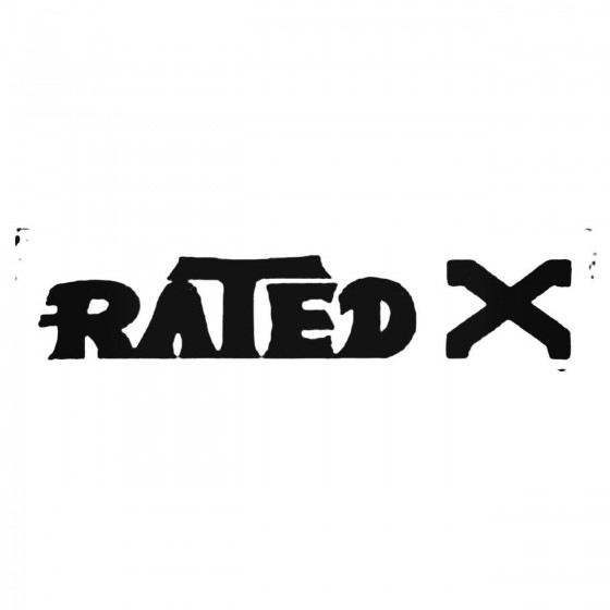 Rated X Usa Band Decal Sticker