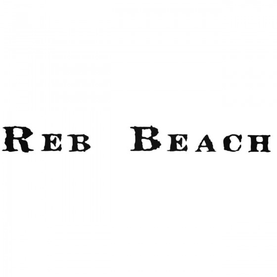 Reb Beach Band Decal Sticker