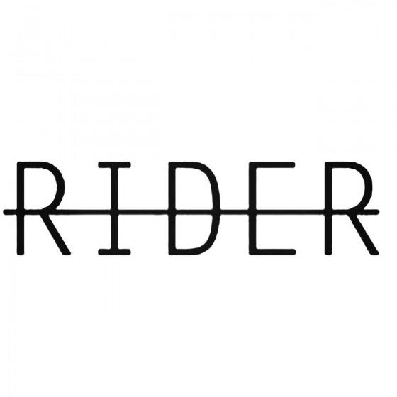 Rider Decal Sticker
