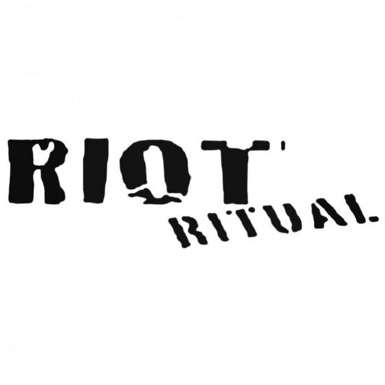 Riot Ritual Band Decal Sticker