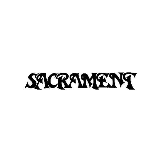 Sacrament 2band Logo Vinyl...