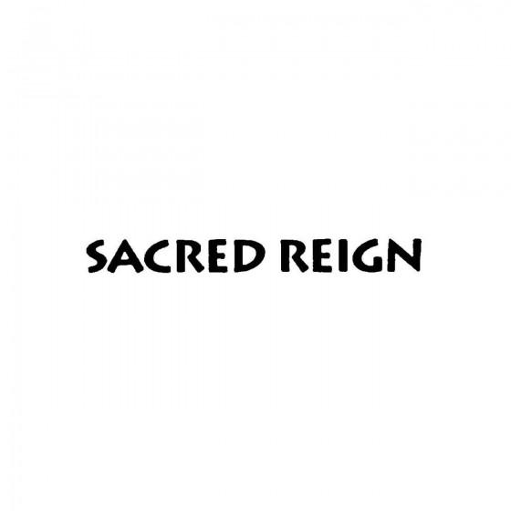 Sacred Reignband Logo Vinyl...
