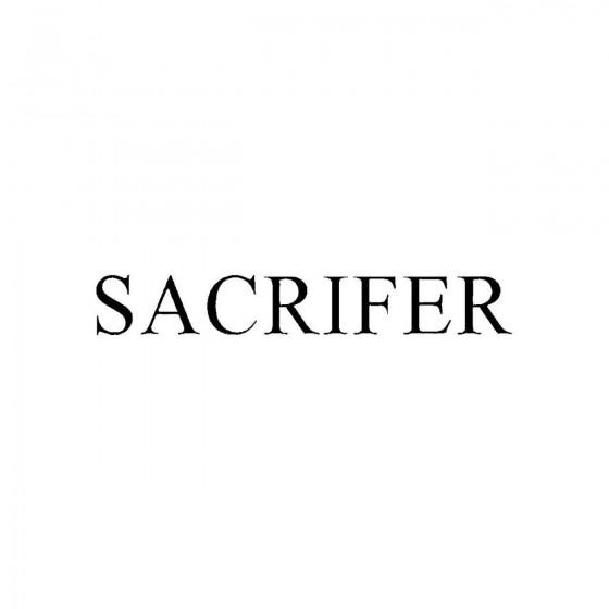 Sacriferband Logo Vinyl Decal
