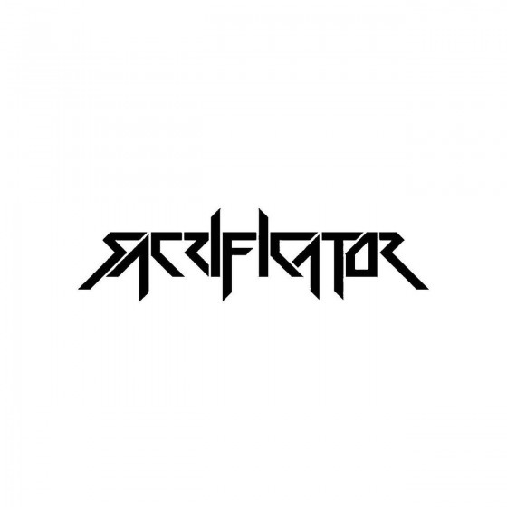 Sacrificatorband Logo Vinyl...