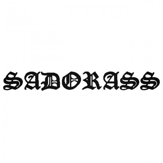 Sadorass Band Decal Sticker