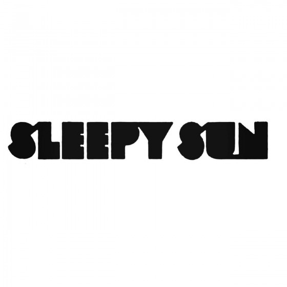 Sleepy Sun Band Decal Sticker