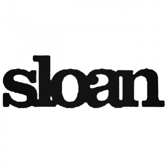 Sloan Band Decal Sticker